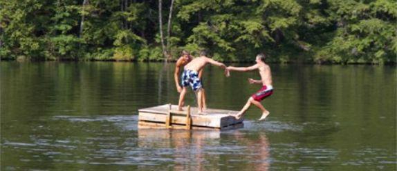 Lake property activities include swimming - water skiing - tubing - fishing
