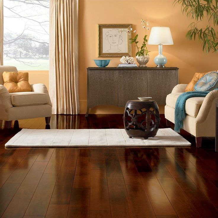 Bruce Cherry Brushed Woodside 3/8 in. Thick x 5 in. Wide x