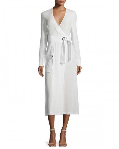 Alc+Ray+Long+Sleeve+Crepe+Wrap+Dress+White+2+a+C+|+Clothing