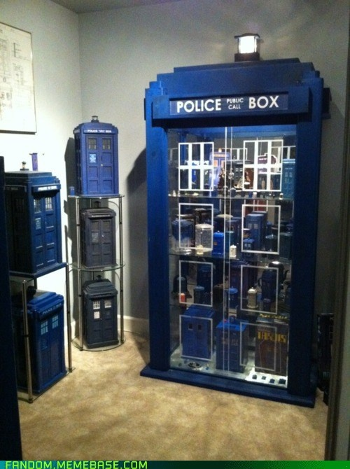 epic TARDIS collection: Vending Machine, Display Cabinets, China Cabinets, The Tardis, Doctorwho, Future House, Doctors Who, Display Cases, Tardis Collection