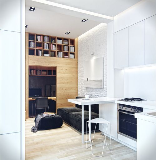 12 best studio images on Pinterest Small apartments, Small spaces - plan d interieur de maison