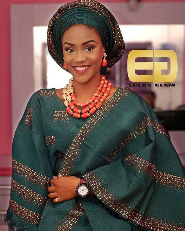 Mua@edens_glam Asooke @ifetokan Beads by @perfectmelange Photography @ijalanaoke #yorubawedding #yorubabride #asooke #sugarweddings #loveit #picoftheday