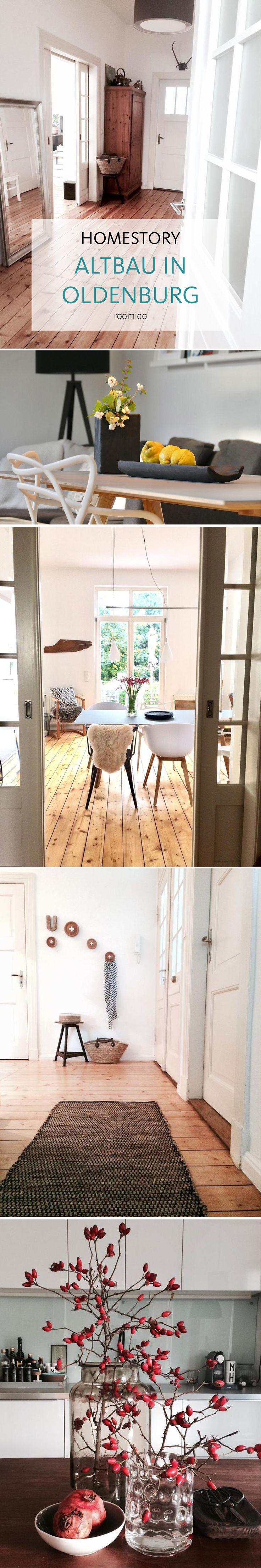 Homestory: ein wunderschöner Altbau in Oldenburg. Holzböden, viel weiß und stilvolle Wohnraumgestaltung! Mehr auf roomido.com #roomido