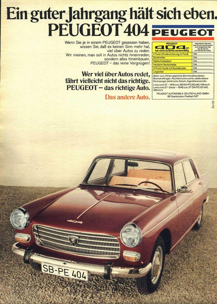 Peugeot 404 - Werbung