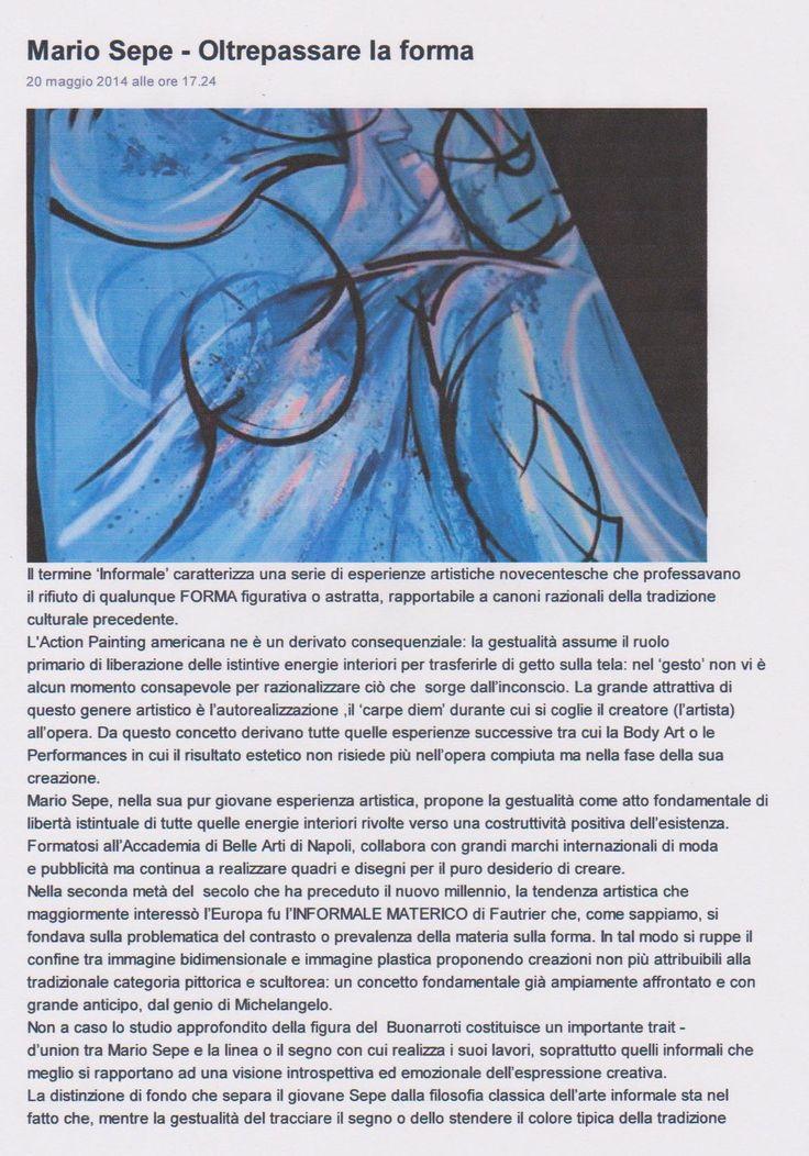 Pubblicazioni di Anna Rita Delucca (storica dell'arte moderna – art director per La Corte di Felsina) Articoli pubblicati su PITTart (http://arte.pittart.com/critici/anna_rita_delucca.htm) : 'Il terzo occhio nella pittura di Anna Maria Guarnieri' – anno 2012...
