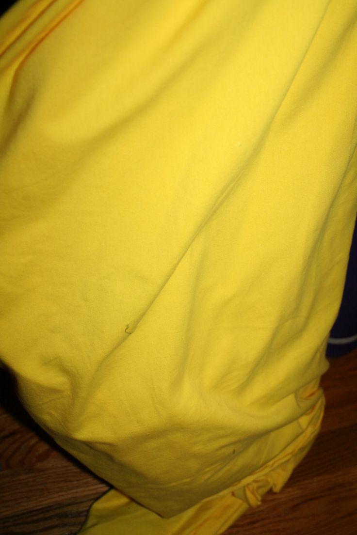 Yellow Cotton Lycra Fabric (yard)
