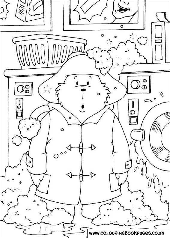 paddington bear colouring sheetscolouring