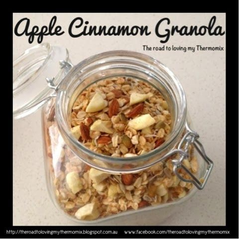 The road to loving my Thermomix: Apple Cinnamon Granola