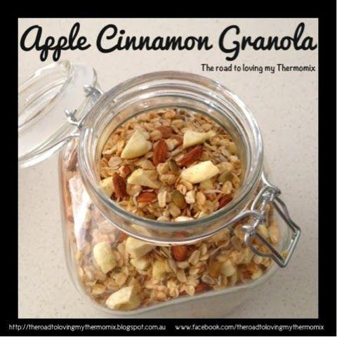 The road to loving my Thermomix: Apple Cinnamon Granola