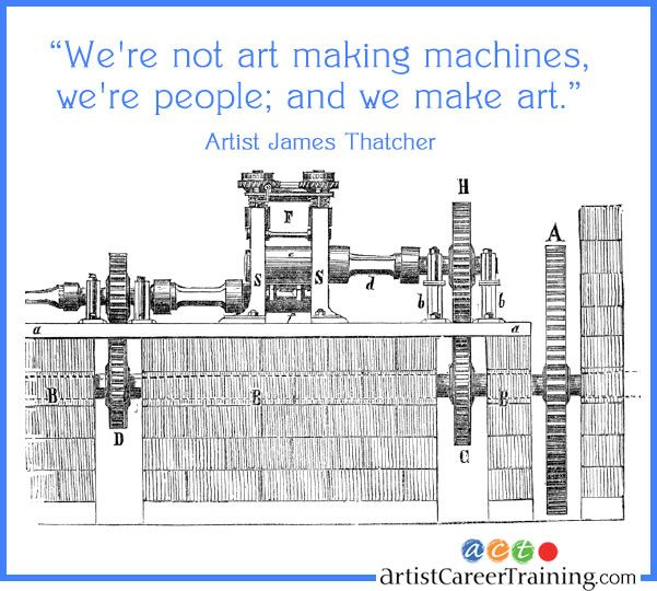 "Balance: ""We're not art making machines, we're people; and we make art."""