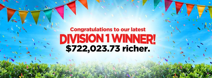 Congratulations to the lucky Oz Lotteries' member, who became one of the six Division 1 winners in Saturday Lotto over the long weekend! The lucky winner played a 12 Game Standard QuickPick ticket and scored a $722,023.73 Div 1 prize share. Another lucky winner played a System 9 ticket and won over $6,900 in Divisions 3 and 4! Could you be Australia's next millionaire? Oz Lotto is $5,000,000 tonight - get your tickets online now.