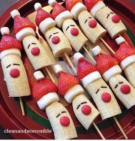 It's Written on the Wall: Fabulous Christmas Desert, Snowy Chocolate Christmas Tree Cupcakes and Banana Santa Treats