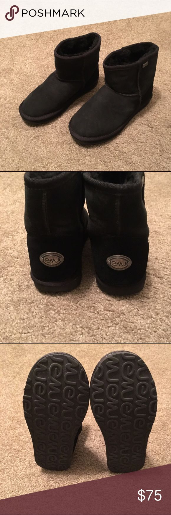 Black Platinum Stinger Mini Emu Boots In perfect condition!!! Black Platinum Stinger Mini Emu Boots!! Worn once then moved to Florida!!! Original box and all!! Size 9. Emu Shoes Winter & Rain Boots