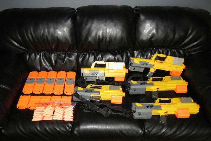 Nerf N-Strike Deploy CS-6 Dart Blaster Guns N Strike w/ Flashlight 58 DARTS Gun #NERF