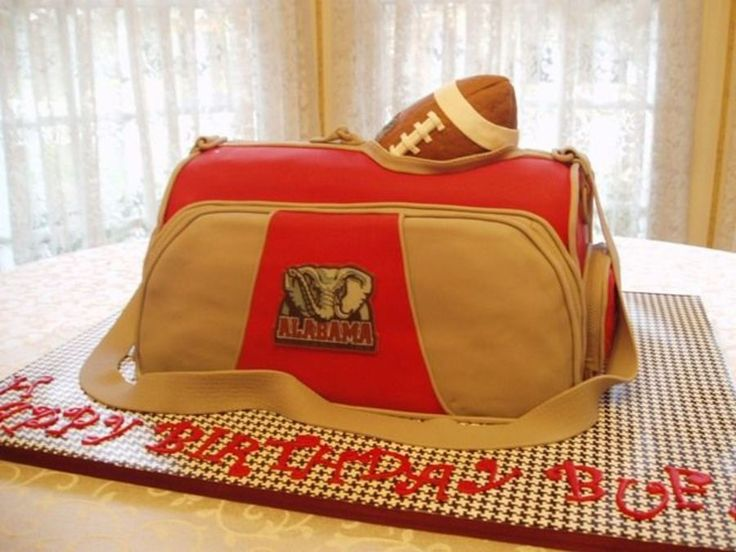 Alabama Sports / Duffle Football Bag on Cake Central
