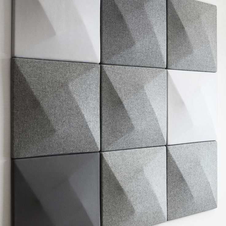 Modern Sound Absorbing Wall Panels for Home or Office Available from Stardust Modern Design These beautiful and su...