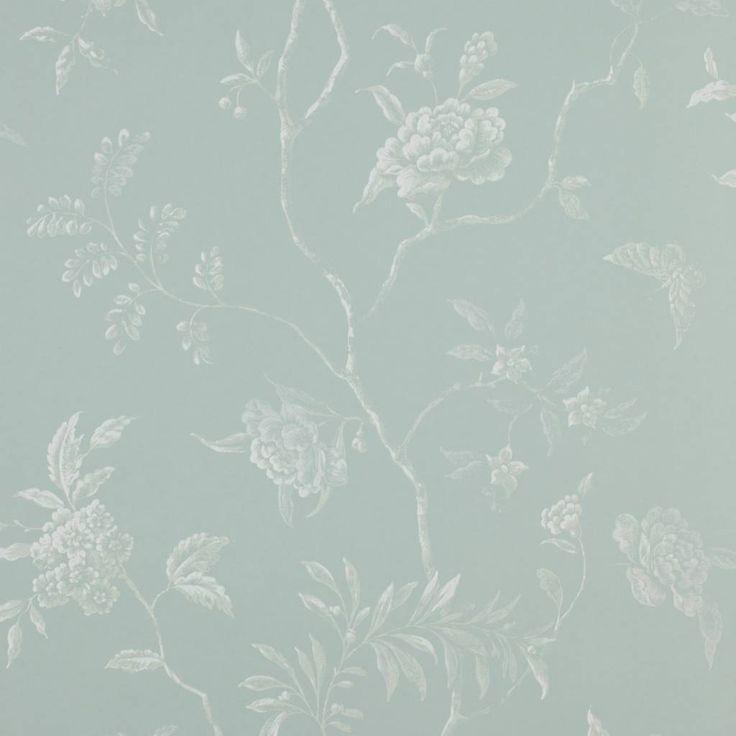Colefax and Fowler Delancey Aqua Behang - De Mooiste Muren
