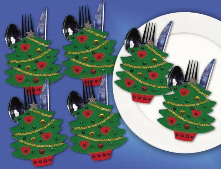 Christmas tree cutlery holders                                                                                                                                                                                 More