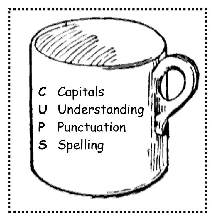 Free CUPS printable for classroom desks or homework for