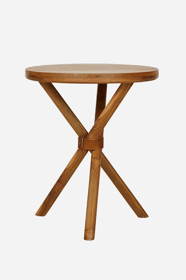Teak Side Table, Tripod - Fenton & Fenton