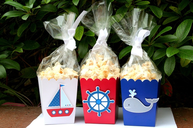 Nautical Party Goodie Boxes Set of 12. $12.00, via Etsy. #ONPinParty