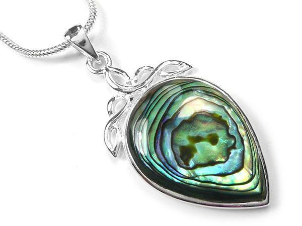 Silver Pendant - Paua Shell