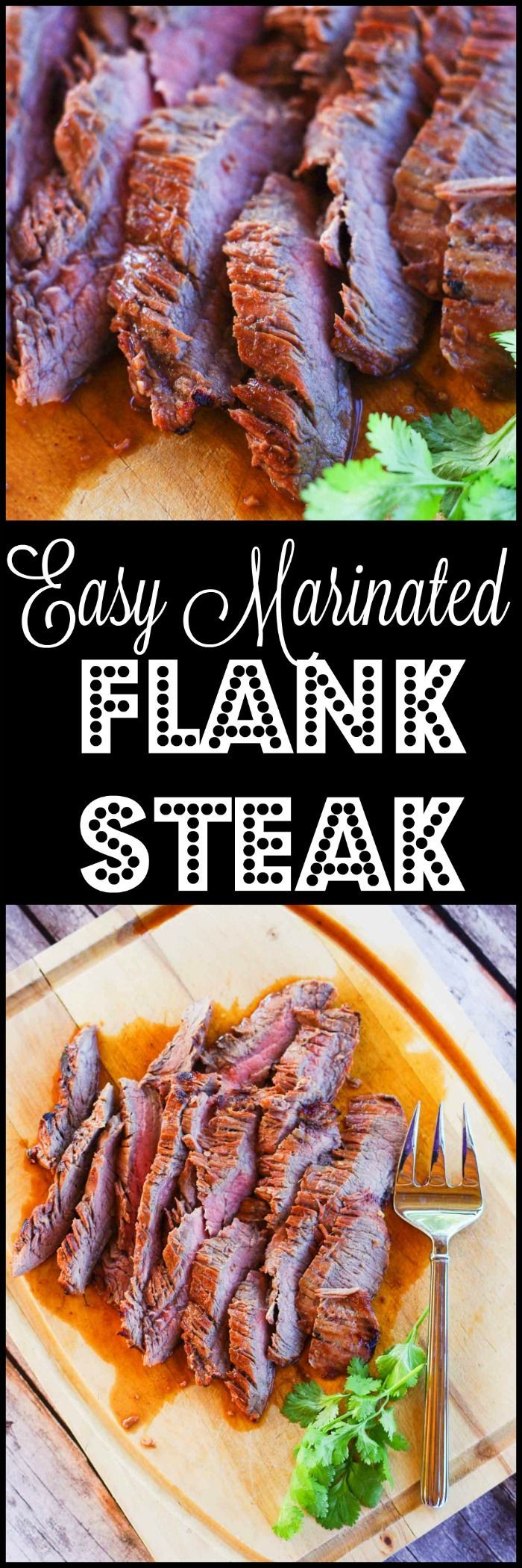 Easy Marinated Flank Steak | http://www.homeandplate.com | My marinated flank steak is tender, full of flavor and just melts in your mouth.