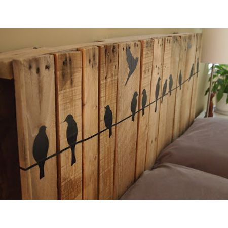 wall art or head board from rustic wood planks ~*~*~*~General Pallet is the Largest Distributor of Pallets in the Northeast. We are one of the largest #pallet recyclers in the United States. We believe in promoting the responsible use of pallets after they leave the distribution cycle. Help us keep this world a better place and #repin these great #upcycle ideas! www.generalpallet.com: