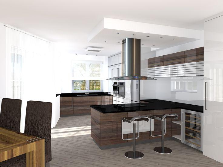 Otevřená designová kuchyně