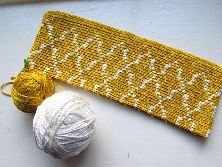 Bolso de jacquard / Tapestry crochet tote bag