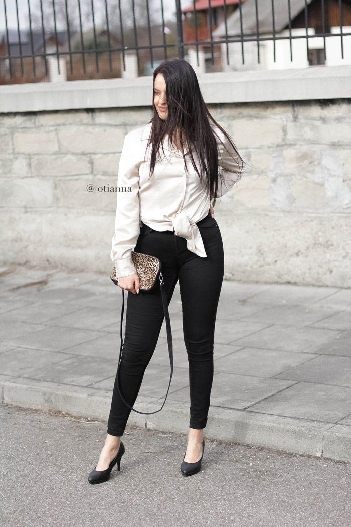 atynowa / Atłasowa koszula damska | seksowna kobieca stylizacja satin shirt, satin shirts blouses | outfit look, blog modowy silk blouses, jedwabna koszula