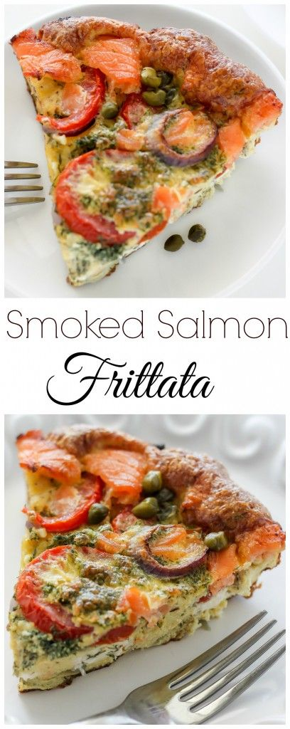 Smoked Salmon Frittata - this easy egg dish is perfect for brunch!!!