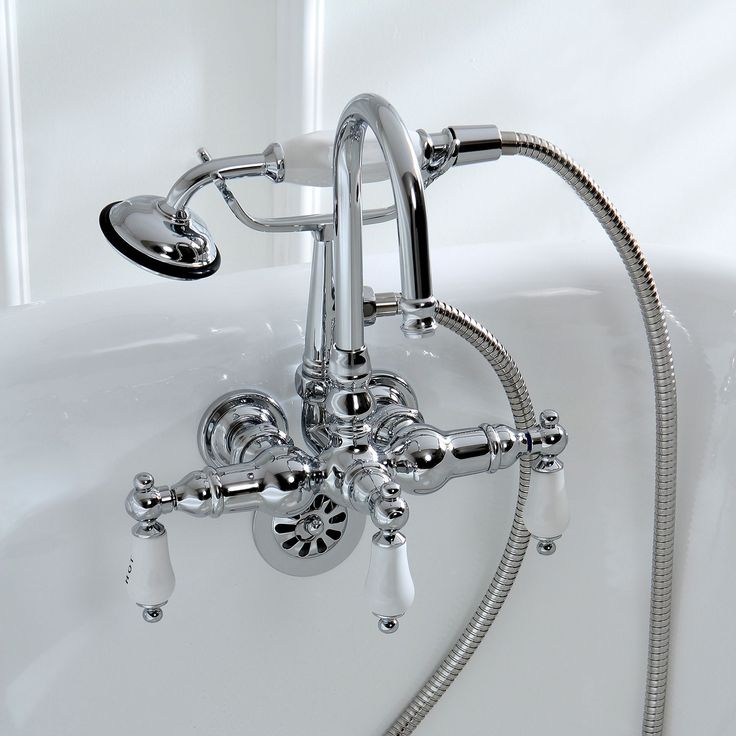 Spectacular Americana Wall mount Chrome Clawfoot Tub Faucet