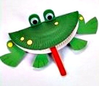 Frog Paper Plate