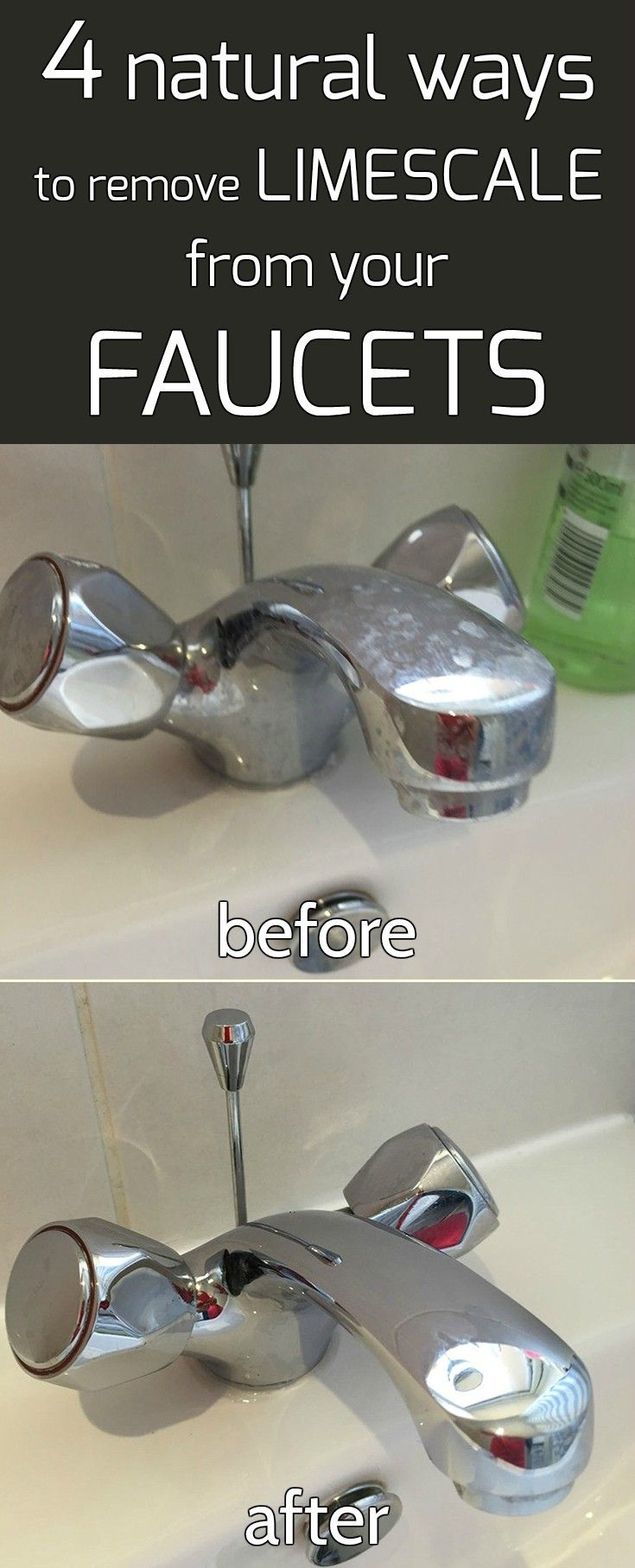 4 natural ways to remove limescale from your faucets - CleaningTutorials.net…