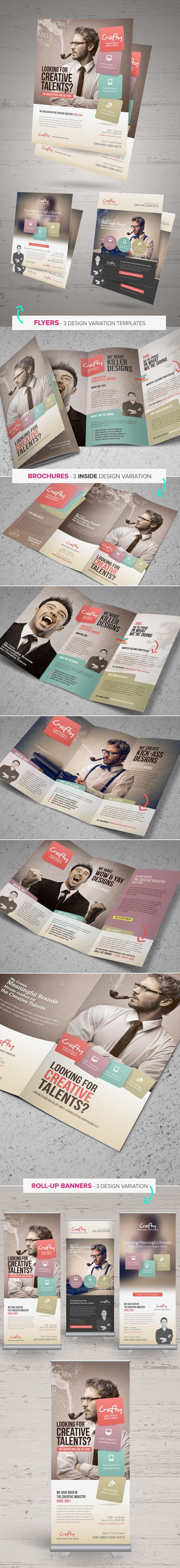 Creative Design Agency Print Bundle by Kinzi Wij, via Behance