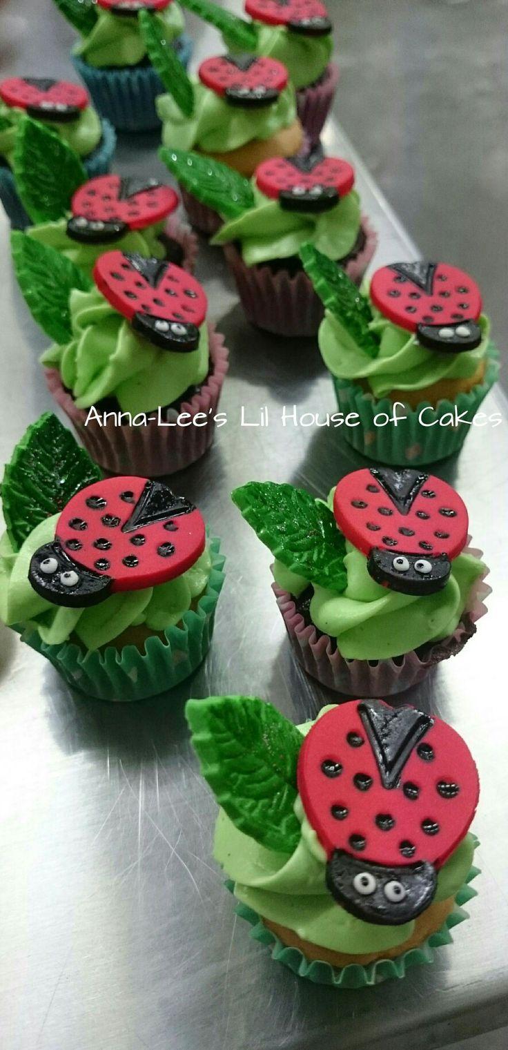 Lady bug Birthday Cupcakes