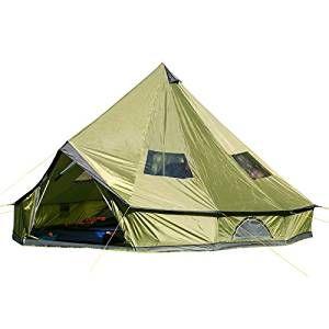 Skandika Molde- 16065- Tenda Campeggio Familiare - 6 Persone - Tipi- Verde