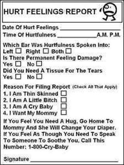 78 best images about hurt feelings report on pinterest for Hurt feelings report template
