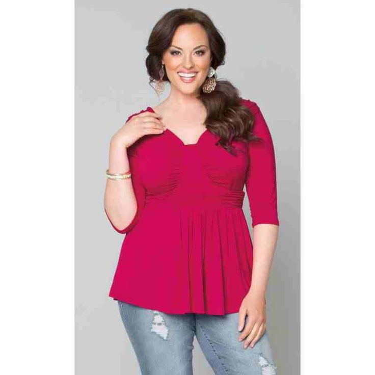PRE-ORDER - Gracefully Gathered Top (Pink Punch) $82.00 http://www.curvyclothing.com.au/index.php?route=product/product&path=95_103&product_id=8245