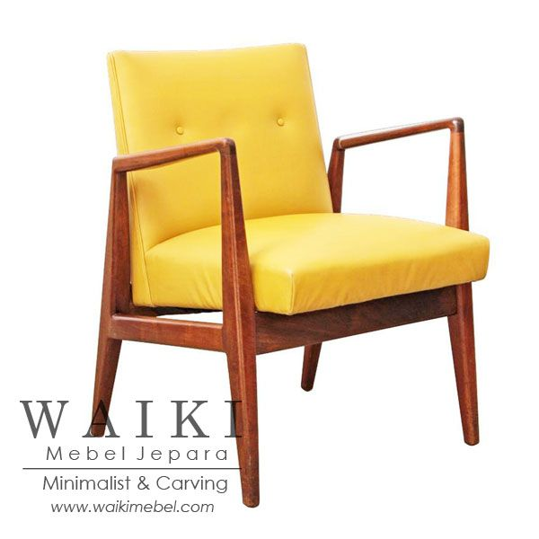 Bendo Living Chair - Model kursi tamu retro 1960. Waiki Mebel produsen furniture kursi retro scandinavia vintage Jepara teak living chair at factory price.