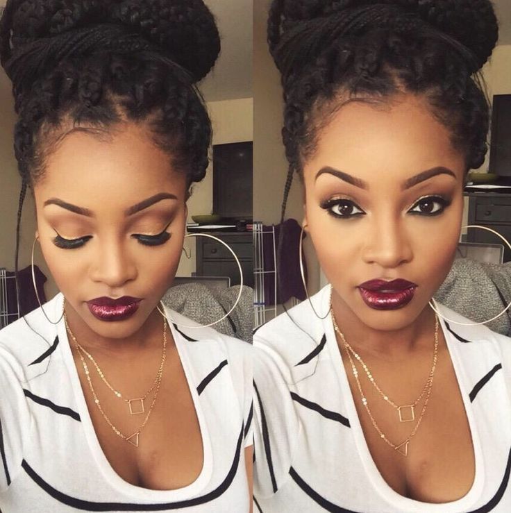 Wow, this lady is gorgeous! Beautiful hair and makeup.