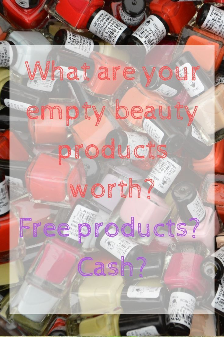 Did you know that your EMPTY beauty products are actually worth something? This blows my mind! Your empty beauty products can get you a free lipstick, a free face mask, free Kiehl's and even cold hard cash. Click through to read more or pin it for later.