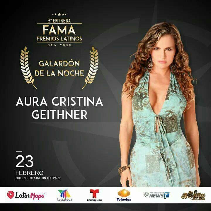 """Gracias """"Premios FAMA LATINO 2017"""" por el Reconocimiento.Gracias a la comunidad latina en New York.Gracias a Ricardo Rios y Alex Almeida por el apoyo!#auracristinageithner #2017 #tbt #award #latinos #NY #like4like #follow #agradecida #televisa #mexico #colombia #premio"""