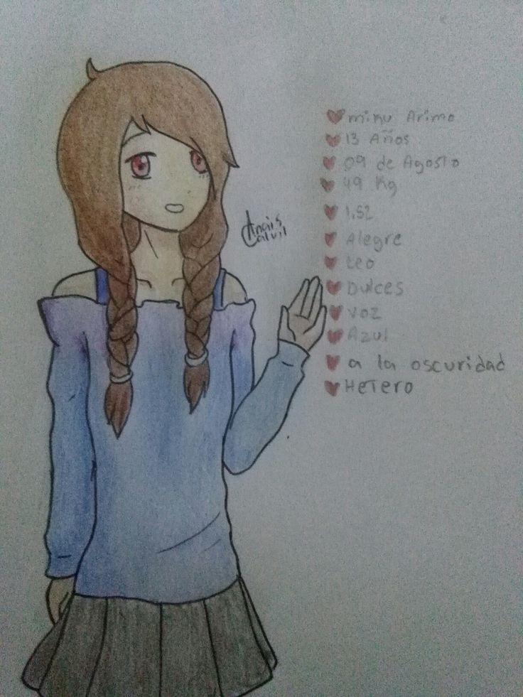 Mi Dibujo de una OC que no me acuerdo del nombre xD