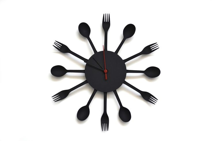 <b>Kitchen clock</b> made with disposable flatware | Home DIY ...