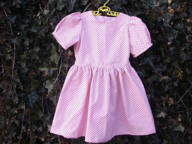 50 ´ere inspireret børne kjole