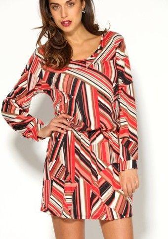 Krátké šaty s barevným grafickým designem #ModinoCZ