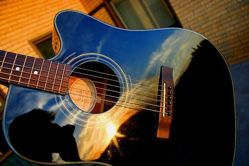 reflection photography-acoustic guitar so cool!