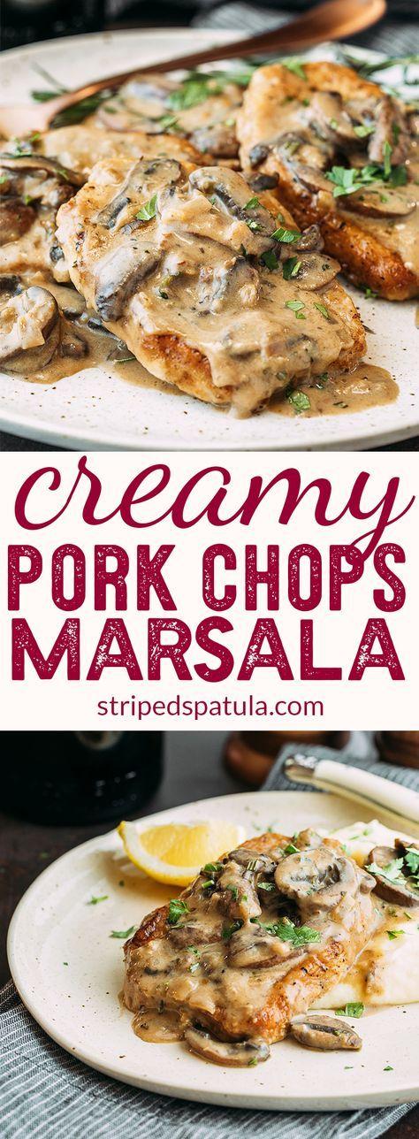 Creamy #Pork Chops #Marsala | 30 Minute Dinners | Pork Chop Recipes | #porkchops #recipes